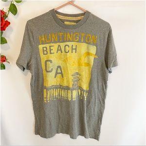 🌼Hollister Huntington Beach Short Slv Graphic Tee